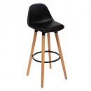 chaise bar polypropylene maxon nr, noir