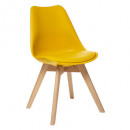 yellow baya polypropylene dining chair, yellow