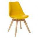 chaise diner polypropylene jaune baya, jaune