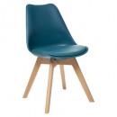 chaise diner polypropylene duck baya, bleu