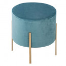blue velvet stool living, light blue