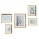 set 5 frames natural ethnic, beige