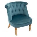 fauteuil velvet blauwe pad gm, blauw