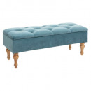 velvet chest bench blue winter, blue