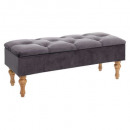 velvet chest bench gray winter, gray