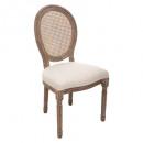 chaise cleon cannage lin blanc, lin
