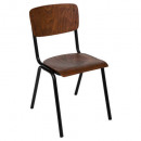 wholesale Child and Baby Equipment: school chair wood kiel, brown