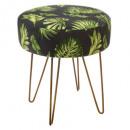stool in velvet p metal colonial, 2-time assor
