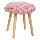 stool cozy pink knit, pink