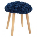 stool cozy blue knit, dark blue