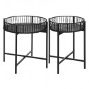 wholesale furniture: coffee table black wicker x2, black