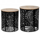 coffee table leaf black x2, black