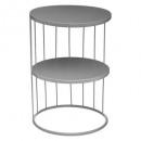 mesa auxiliar gris kobu, gris