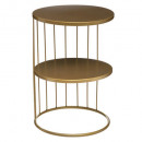 gold kobu side table, gold