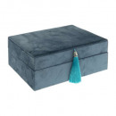 winter velvet box, medium blue