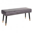 bench velvet gray living, gray