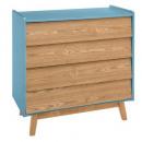 chest of drawers 4 blue elva shot, blue