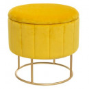 wholesale Small Furniture: chest pouf velvet mustard pumpkin