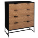 4-drawer chest oria, black