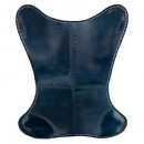 dario leather cover blue, dark blue