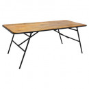 table diner kalida 200x90, marron