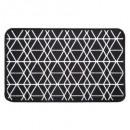 50x80 schwarzer geometrischer Teppich, schwarz