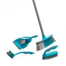 hurtownia Srodki & materialy czyszczace: zestaw do czyszczenia 5 szt., niebieski