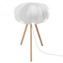 lámpara de bambú + abj pap h55, blanco