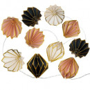 girlande 10led pile origami archi, multicolored