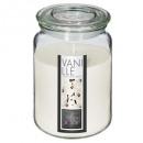 bougie parfumées verre vanil nina 510g, blanc