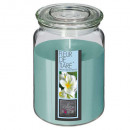 scented candle vr fl ti 510g, light blue