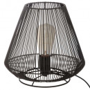 lámpara de alambre de metal negro h26, negro