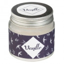 vanilla glass scented candle 65g, dark blue
