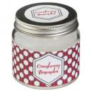 bougie parfumées verre cranberry 65g, rouge