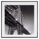 Brücke Glasrahmen 50x50, schwarz / weiß