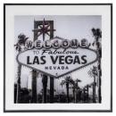 Vegas Glasrahmen 50x50, schwarz / weiß