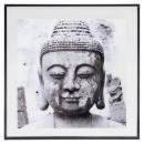 50x50 Buddha glass frame, black & white