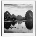 river glass frame 50x50, black & white