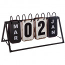Vintage metal calendar, black & white