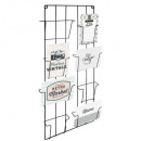 double story metal photo holder, black