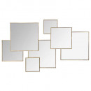 mirror multi squares lila 61x37, gold