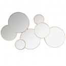 round multi mirror lila 61x37, gold