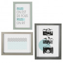 set 3 color frames assorted , 3- times assorted ,