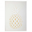 printed canvas / cad / sil pineapple 50x70, beige