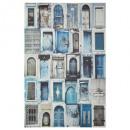 toile imprimée multi porte 60x90, bleu