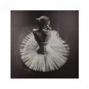 toile imprimée danseuse 78x78, noir & blanc