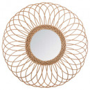 rattan mirror rosette d58, medium beige