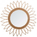 miroir rotin sol pointu d50, beige moyen