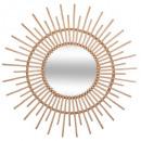 miroir rotin d76, beige moyen