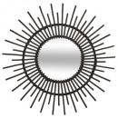 rotan spiegel d76 zwart, zwart